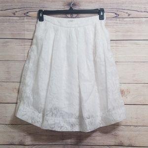 J. Crew Textured Patio Skirt Size 2 Off White